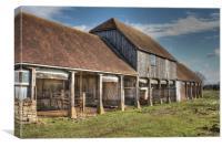 Great Hungerden Farm, Canvas Print