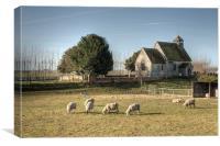 Sheep At St Bartholomew Goodnestone, Canvas Print