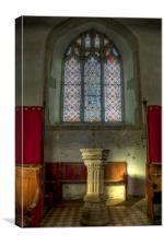 St Bartholomew Goodnestone Font, Canvas Print