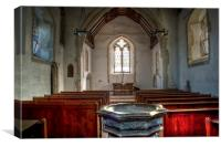St Bartholomew Goodnestone Interior, Canvas Print
