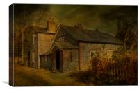 The Old School House Eastling, Canvas Print
