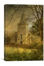 St Mary Westwell , Canvas Print