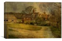 Lacton Manor Westwell, Canvas Print