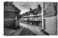 Down Aylesford High Street, Canvas Print