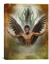 Throne Of Angels, Canvas Print