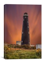 Dungeness Lighthouse at Dusk, Canvas Print