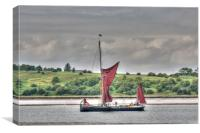 Thames Barge On The Swale, Canvas Print