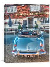 English Pub English Car, Canvas Print
