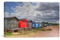 Seasalter Beach Huts, Canvas Print