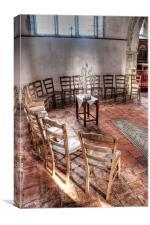 The Church Chairs, Canvas Print