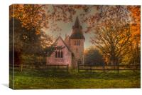 St Margaret Wychling In The Autumn, Canvas Print