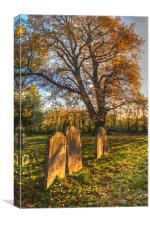 Autumn In The Churchyard, Canvas Print