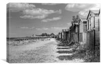 Whitstable Huts, Canvas Print