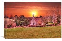 Sundown at Woodlands, Canvas Print