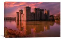 Dawn At The Castle, Canvas Print