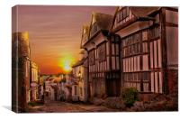 Sunset On Mermaid Street, Canvas Print