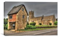 St Peter and St Paul Long Compton, Canvas Print