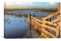 Gate On The Marsh, Canvas Print