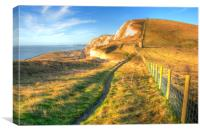 Early Sun at The White Cliffs, Canvas Print