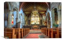 St Dunstan Mayfield, Canvas Print