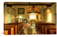 St Augustines Snave, Canvas Print