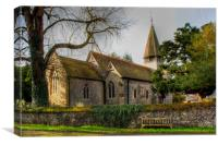 St Peter and St Paul Worth, Canvas Print