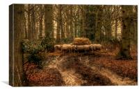 Sheep In The Woods, Canvas Print