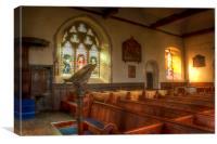 St Mary Smeeth Interior, Canvas Print