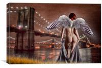 Angel In Brooklyn, Canvas Print