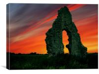 Midley Ruins, Canvas Print