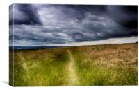 Storm Over The North Downs, Canvas Print
