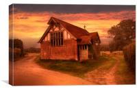 Dawn At Pedlinge Chapel, Canvas Print