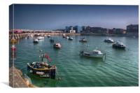 Margate Harbour From The Harbour Arm, Canvas Print