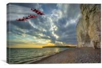 Reds Over Seven Sisters, Canvas Print