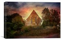 Badlesmere Church, Canvas Print