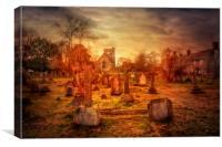 Headcorn Churchyard, Canvas Print