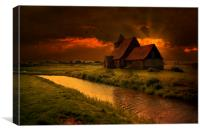 Sundown At St Thomas, Canvas Print