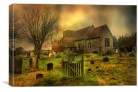 St Mary Capel-Le-Ferne, Canvas Print