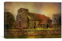 St Mary Capel-Le-Ferne , Canvas Print