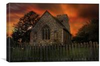 Old Burham Church, Canvas Print