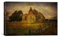 St Clement's Old Romney From The East, Canvas Print