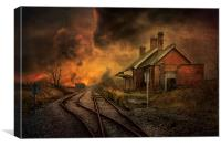 Lydd Station, Canvas Print