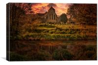 Reflected In The Stour, Canvas Print
