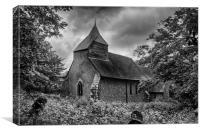 Folkington Church, Canvas Print