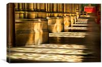 Columns In The Sunlight, Canvas Print