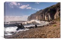 Storm Tide Cliffs End, Canvas Print
