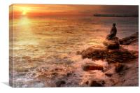 Folkestone At Sunrise, Canvas Print