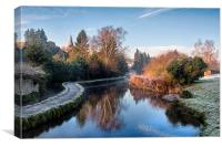 Loose Mill Pond, Canvas Print