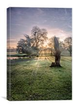 Morning Sun At Leeds, Canvas Print
