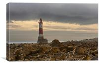 Beachy Head Lighthouse and Foreshore, Canvas Print